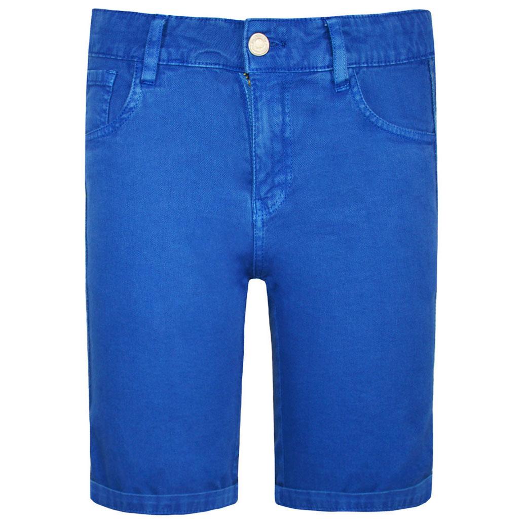 Bermuda bambino in cotone blu