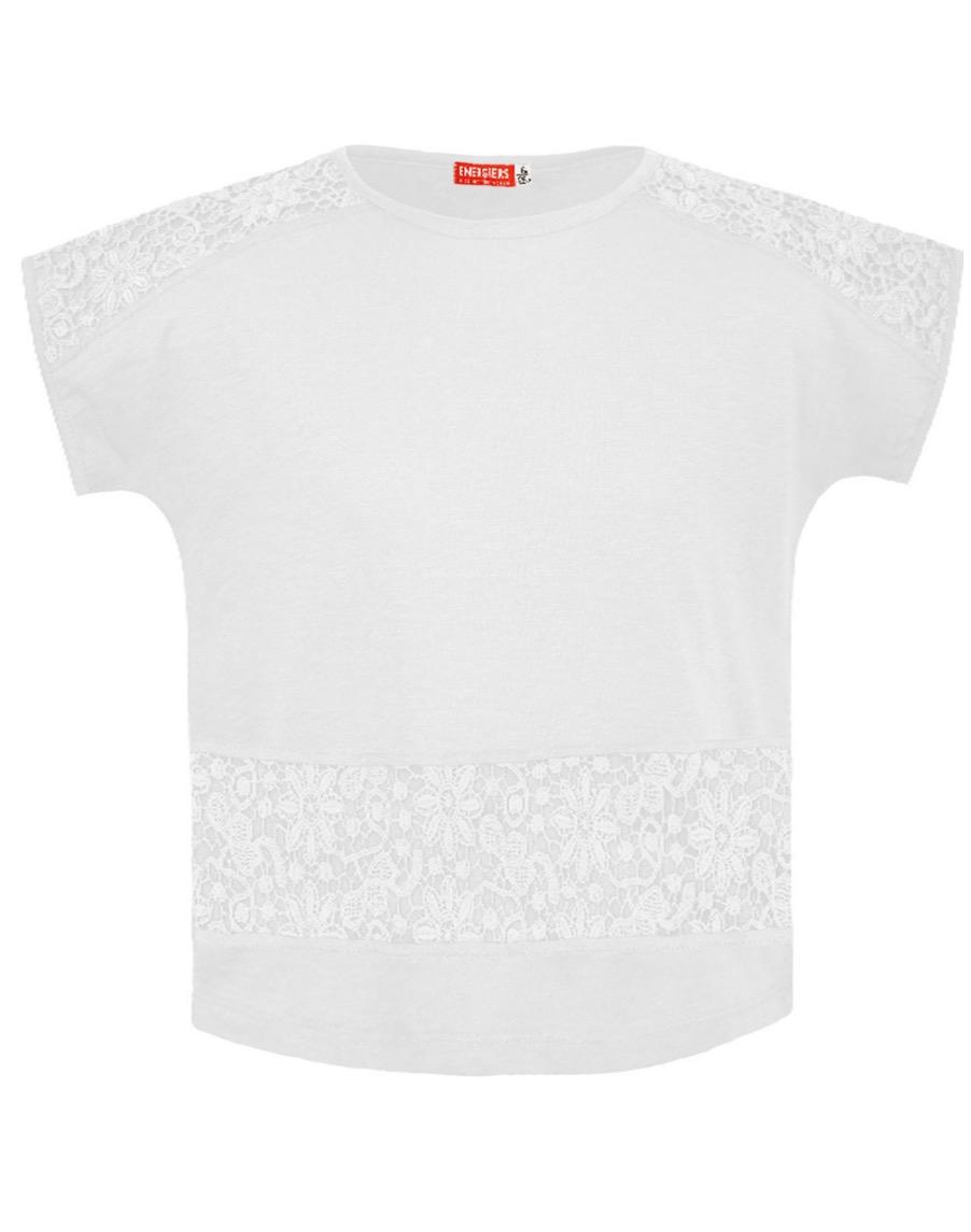 Maglietta ragazza con inserti in pizzo