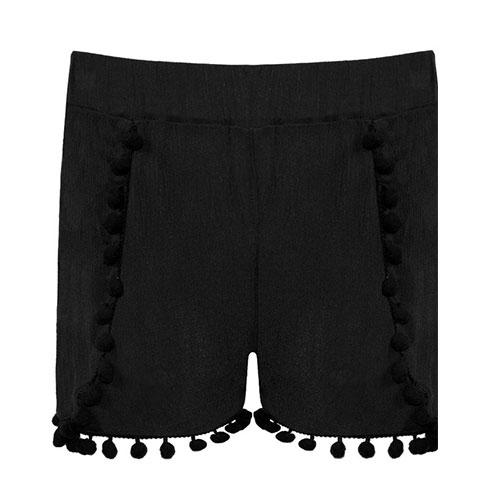 Pantaloncini ragazza con pon pon