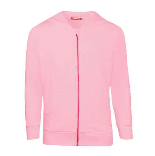Felpa rosa con zip