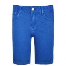 Bermuda bambino e ragazzo in cotone blu