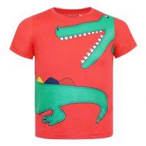 Maglietta in cotone con stampa coccodrillo