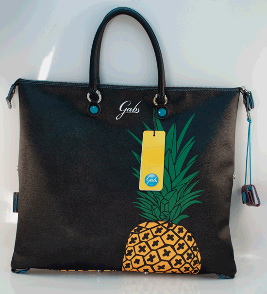 Borsa Shopping piatta trasformabile G3 PLUS in PU e pelle – Ananas