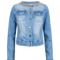 Giubbino bambina modello chanel in jeans