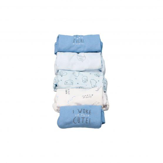 Body neonato fantasia – set da 5 pezzi