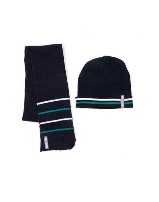 Set bambino cappellino e sciarpa a righe