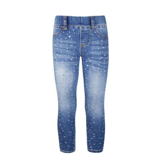 Jeans ragazza con strass