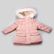 Parka bambina con cappuccio e pelliccia
