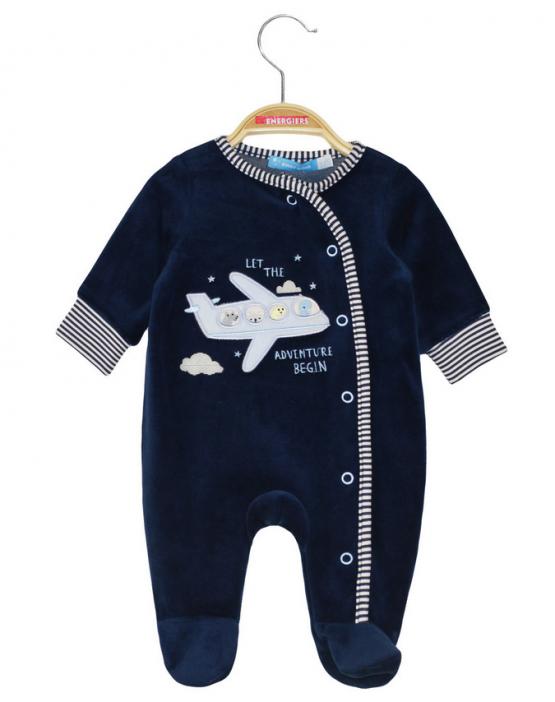"""Tutina neonato in ciniglia """"Aeroplano"""""""