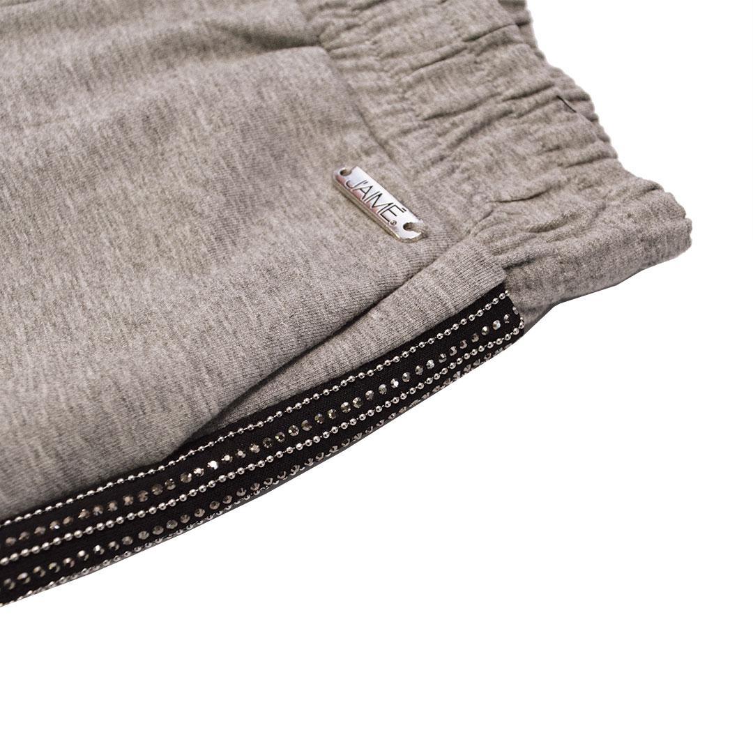 Pantaloni tuta con banda strass