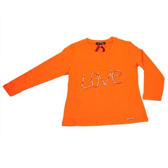 """Maglia gioiello manica lunga """"Love"""""""