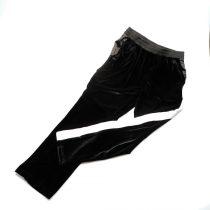 Pantaloni con banda laterale in raso bianco