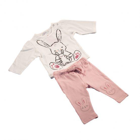 Completo neonata con coniglietti