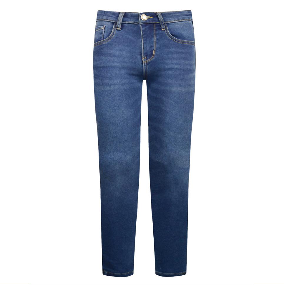 Jeans denim elasticizzati con sabbiature